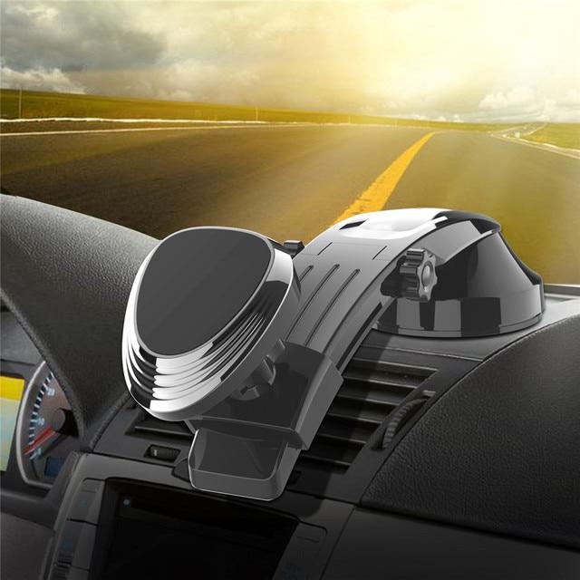 حامل هاتف مغناطيسي ل لوحة سيارة الزجاج الأمامي Adjustablet مركبة حامل هاتف ل iPhone8 XS XR غالاكسي S10 سيارة الهاتف جبل