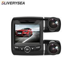 SLIVERYSEA Panoramic Driving Recorder Car DVR Camera Video WiFi HD 1080P Registrator Telescopic Lens Dual Dash Cam