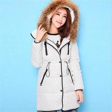 Тонкий Прямой Женщины Пуховик 2016 Зима Новая Мода Утолщение Корейский Свободные Талии Пальто