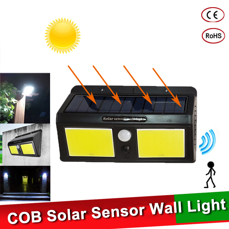 96 COB LED Solar Power Light PIR Motion Sensor Wall Lamp Waterproof Garden Light Outdoor Pathway Street Security Solar Lamp