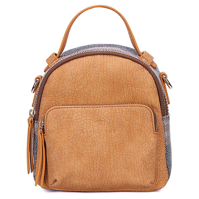 Multifunction Mini Backpacks Women Vintage Serpentine Lady Shoulder Bag Daily Small PU Leather Backpack Purse Clear Bagpack