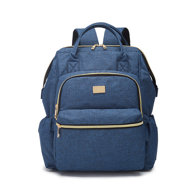 2018 Brand New Baby Stroller Shoulder Bag Casual Mummy Fashion Tote Bags 20L Double Roots Blue Ladies Girls Backpack Four Colors