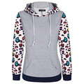 Hot Sale Autumn Sweatshirts Winter Warm Women Thicken Windproof Floral Sleeve Hoodie Woman Sweatshirt Coats Female Clotches S260