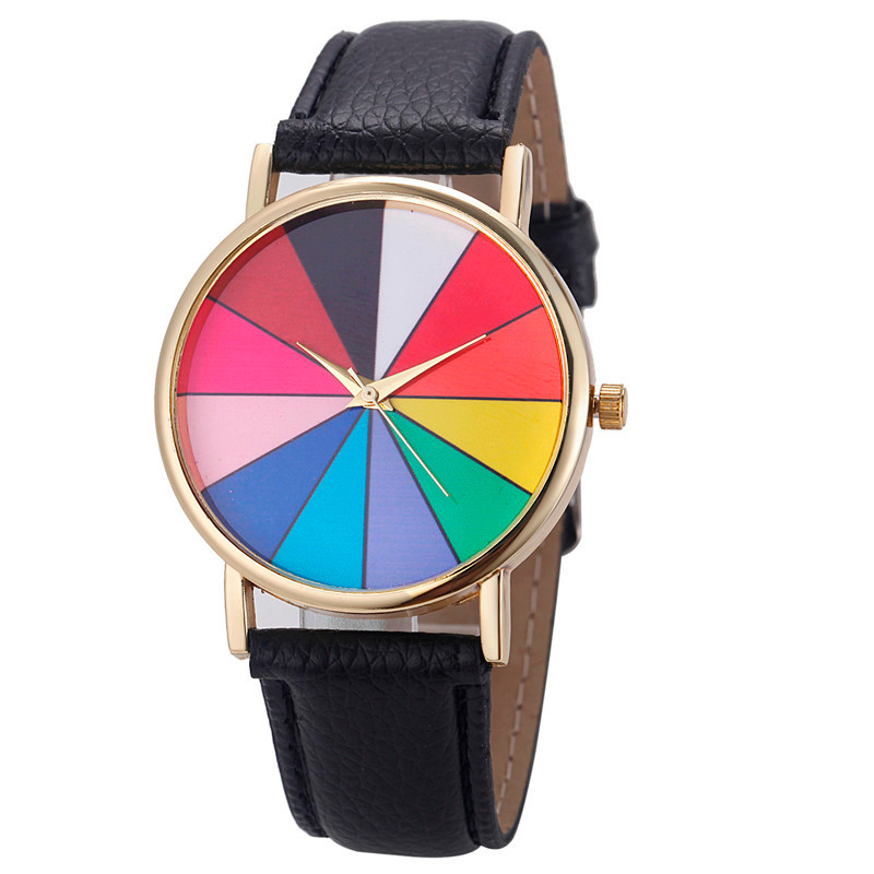 New Fashionable Unisex Watches Casual Stylish Women Geometry Analog Leather Quartz Men Wrist Watch relojes para mujer Clocks A60 analog watch