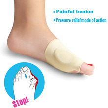2pcs Bunion Corrector Gel Foot Toe Separator Hallux Valgus Protector Adjuster Pain Relief Straighten Bent Toes Foot Care Tool