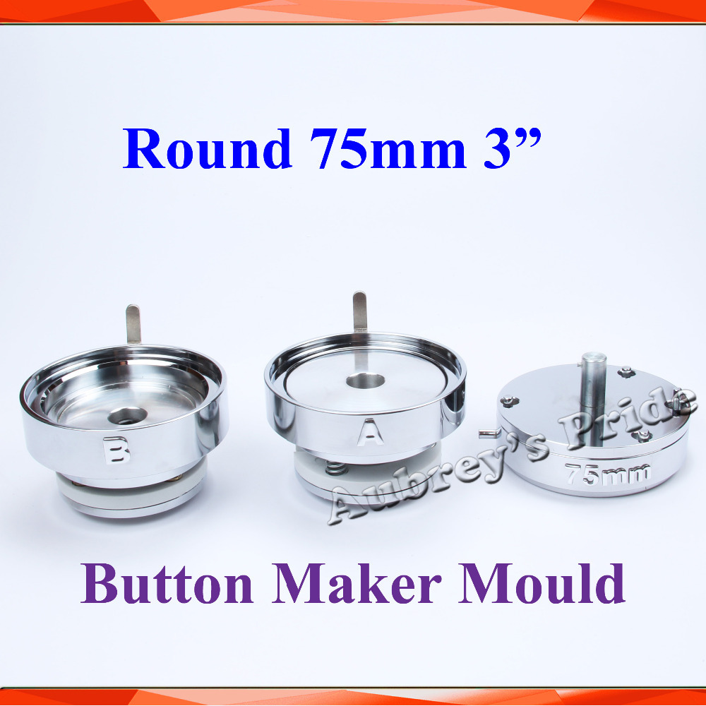 Round 3 75mm Interchangeable Die Mould for New Pro Badge Machine Button Maker