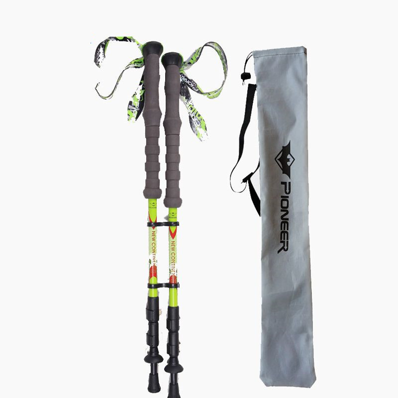 Ultralight 100 Aviation Carbon Fiber Walking Sticks Quick Lock 3 section Trekking Poles Telescopic Sticks Alpenstocks