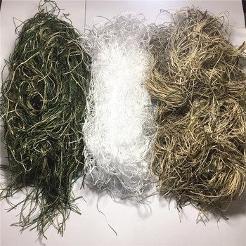 1.2M Airsoft Hunting Blind Ropes Camouflage Ghillie Suit Accessories Elastic Synthetic Fiber Mlitary CS Hunting Blind Gun Wraps 6