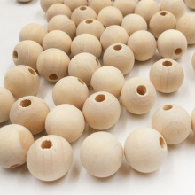 10-500pcs Natural Color Wood Beads Round Spacer Wooden Eco-Friendly Balls 4 6 8 10 12 14 16 18 20 25 30mm DIY
