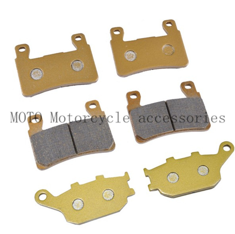 Front & Rear Brake Pads for Honda CBR600 CBR900 VTR 1000 CB1300S CBR 929 CBR 954 RVT1000 R/RC51 Motorcycle Brake Pads 3 Pairs 2 pairs motorcycle brake pads for honda cbr250 cbr 250 rj rk rk2 mc19 1988 1989 black brake disc pad