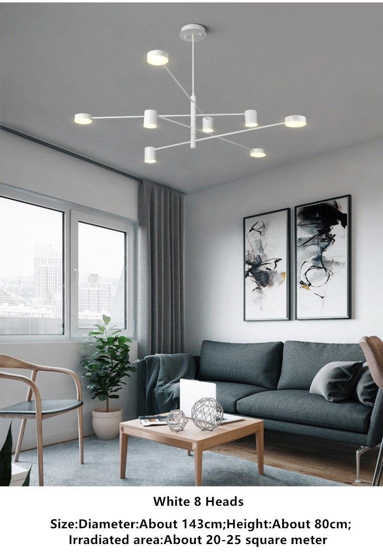 moderna simplicidade lustre personalidade criativa restaurante quarto