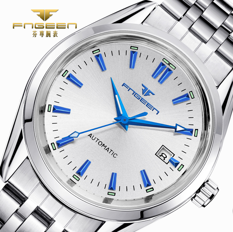 Mens Top Brand Luxury Watches Male Luminous Calendar Waterproof Wrist Watch Stainless Steel Automatic Mechanical Wristwatch
