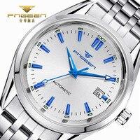 2017 masculino relógios de luxo superior masculino luminoso calendário relógio de pulso à prova dwaterproof água aço inoxidável automático relógio de pulso mecânico Relógios mecânicos     -