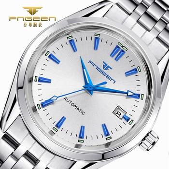 2019 Mens Top Brand Luxury Watches Male Luminous Calendar Waterproof Wrist Watch Stainless Steel Automatic Mechanical Wristwatch