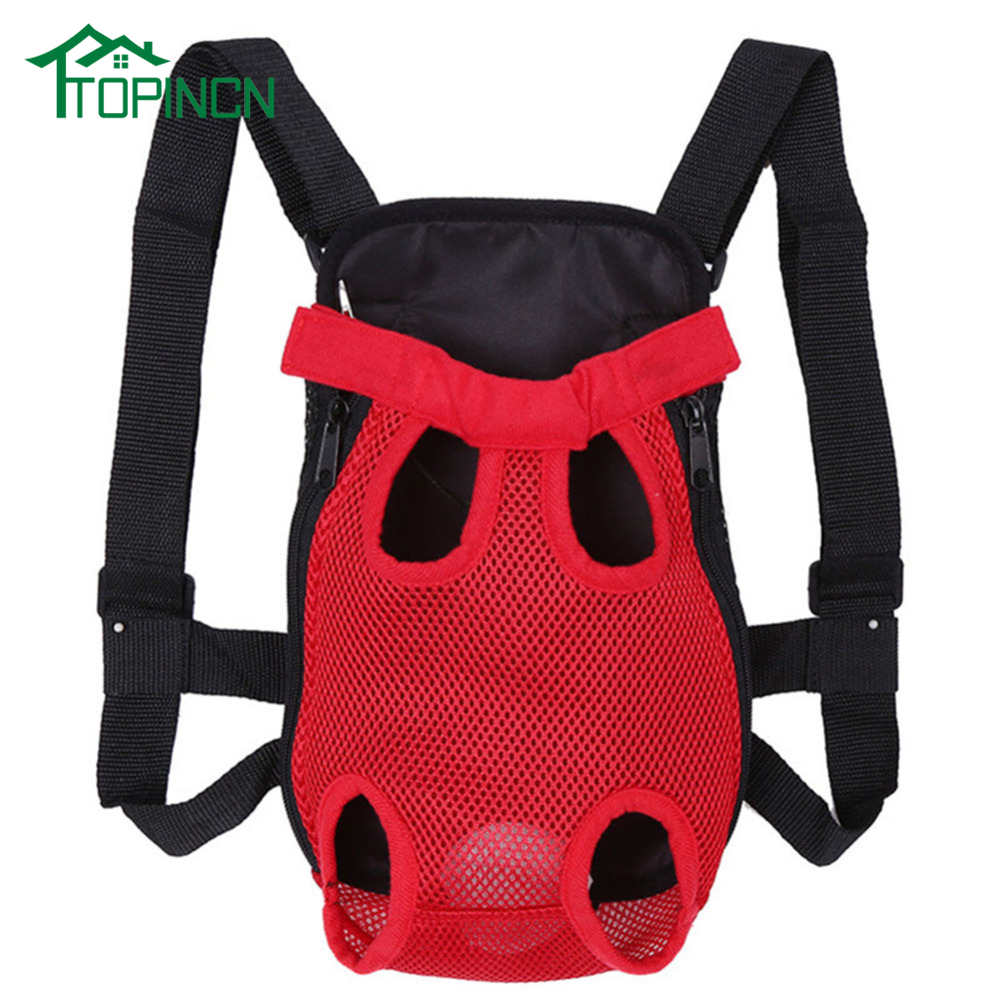 Pet Dog Carrier Back Pack Breathable Net Travel Dog Backpack Five Holes Pet Bags Shoulder Pets Puppy Carrier New Arrival