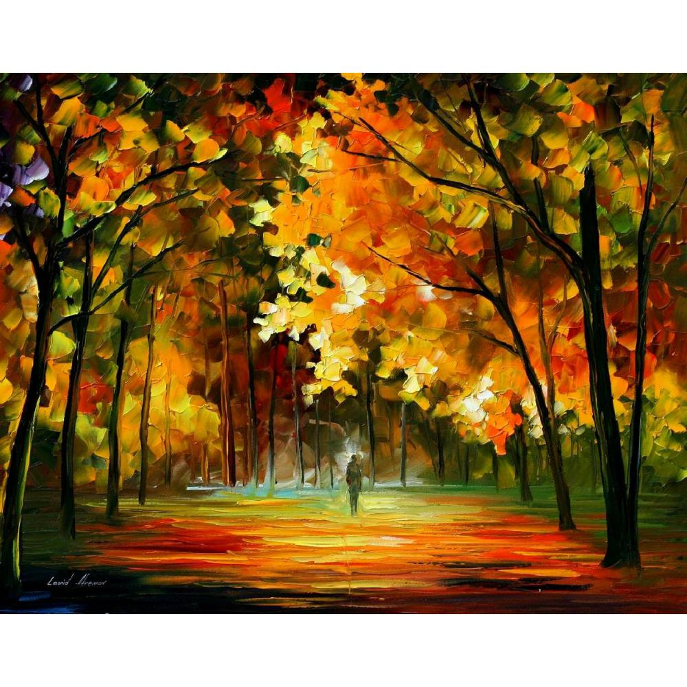 Landscape Modern paintings with Palette knife art oil on Canvas fiest of leafs Handmade high qualityLandscape Modern paintings with Palette knife art oil on Canvas fiest of leafs Handmade high quality