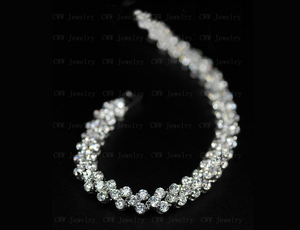 Image 2 - CWWZircons High Quality Rome Design 234 pcs Round White AAA+ Cubic Zirconia Stones Pave Chain Link Necklace CP007