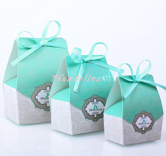 50pcs Lot European Chocolate Cookie Candy Container Wedding Favor Gift Box Decorative