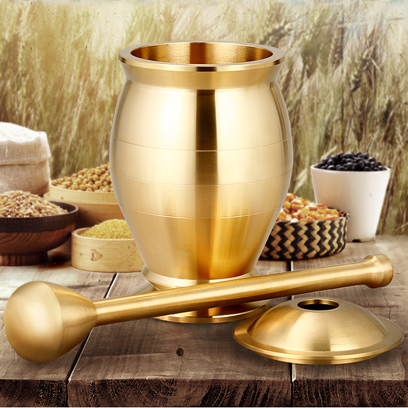 Image 2 - Pestle and Mortar Set Pure Copper Mills Mincers for Kitchen  Grinding Salt Pepper Nutmeg Cinnamon Chocolate Herb Paste Grain  RiceMills