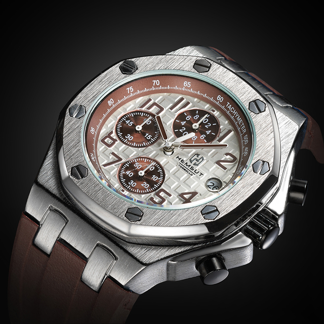 Marke Neue Gold Männer Uhr Männer Luxus Quarzuhr 3ATM Wasserdicht Quarz Handgelenk Ursprünglichen männer Uhren für Große handgelenke