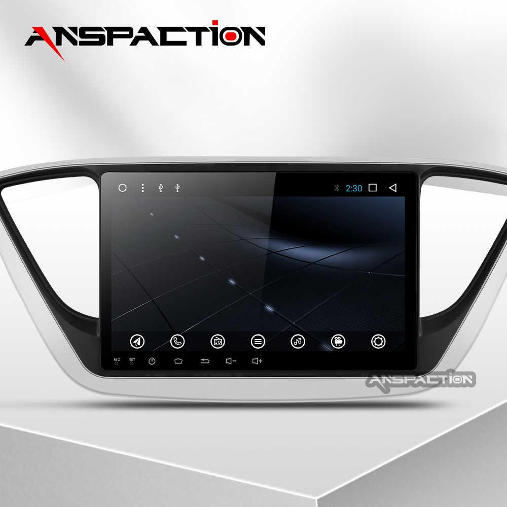 Android 9,0 auto Radio Multimedia reproductor de Video GPS de navegación Android para solaris hyundai no dvd 2 din 2012, 2013, 2017 2018 verna