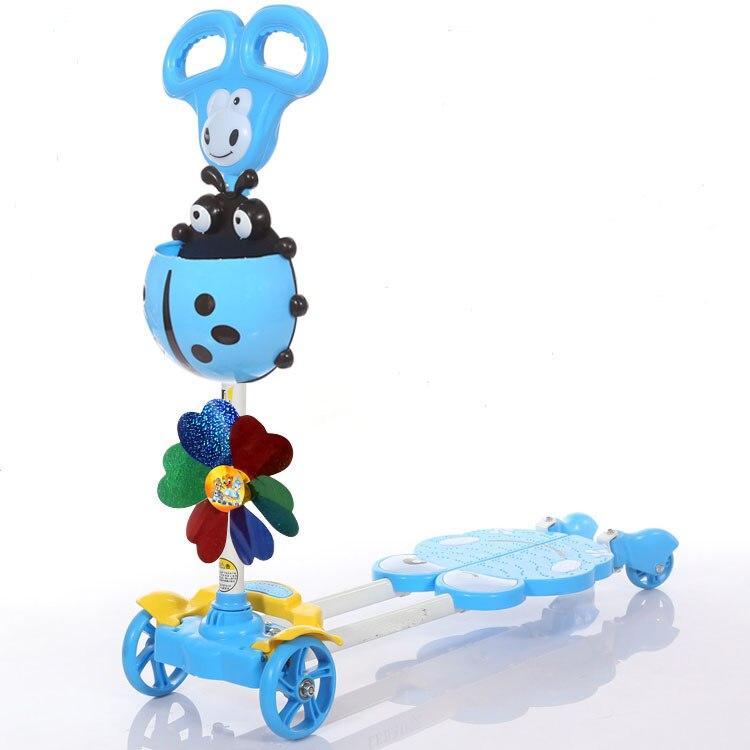 Children Bicicleta Scooter Toys 4 Wheels Outdoor Kid swing Bike Car Slide Ride On Toy Adjustable height материнская плата msi h270m bazooka h270 socket 1151 4xddr4 6xsata3 raid 1xpci e16x 1xm 2 3xusb3 1 1xusb type c dvi d hdmi glan matx
