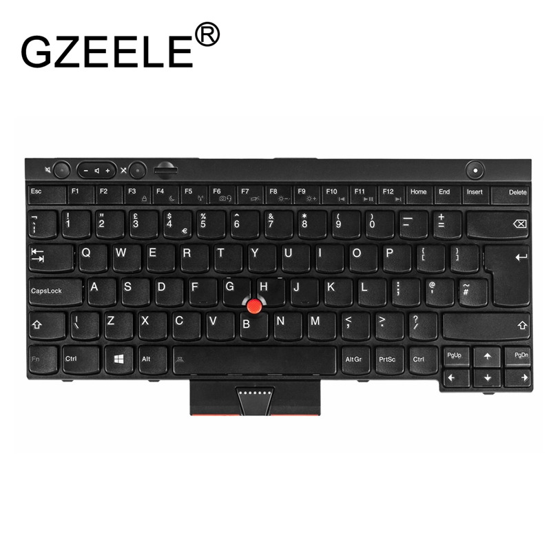 GZEELE New for IBM FOR Thinkpad T430 T430l T530 T430S L430 X230 W530 UK KEYBOARD 0C01952 04X1306 Laptop /Notebook QWERTY 04X1230 new laptop keyboard for lenovo thinkpad x230 t430 t530 w530 ru russian layout