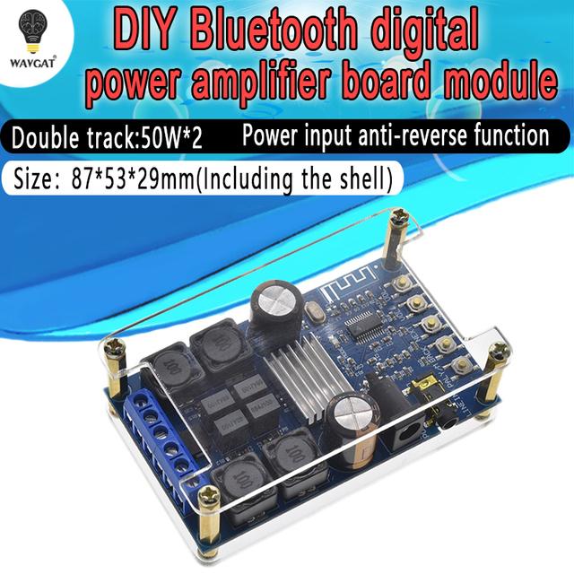TPA3116 50W+50W 2.0 Audio Wireless Bluetooth Stereo Digital power amplifier Board With Shell