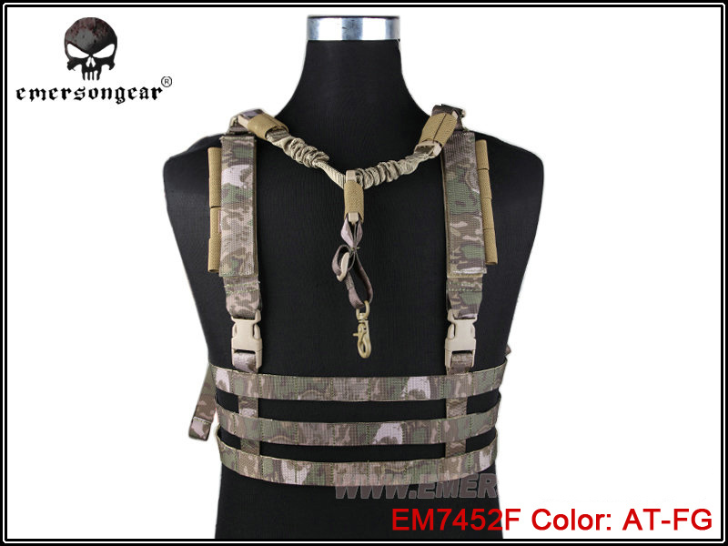ФОТО EMERSON Military Tactical Molle Vest Ammo Chest Rig Removable Gun Sling Hunting Airsoft Paintball Police CS Gear EM7452 AT-FG ^