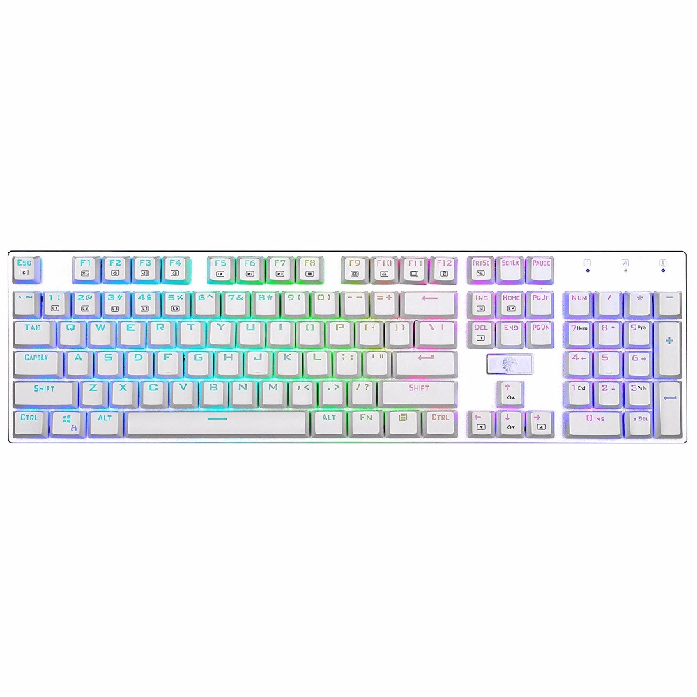 Z88 RGB Mechanical Gaming Keyboard Red Switch Linear Quiet Programmable RGB Backlit Water Resistant 104 Keys