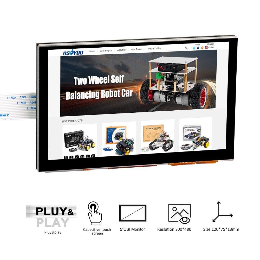 5 pouces 800x480 Raspberry Pi écran tactile tft DSI Connecteur écran lcd Soutien Framboise, Ubuntu COMPAGNON, Kali, retroPie système