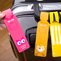 NUEVO Gel de Sílice Avión etiqueta del Equipaje del Viaje Maleta Correas Nombre ID Dirección Etiquetas Reutilizables Cartoon Etiquetas de Equipaje