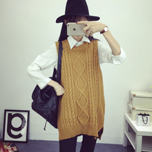 2016 Autumn&Winter Cashmere Sweater Women Wild Long Section Sleeveless Sweater Vest Grey Black Red Camel As1605