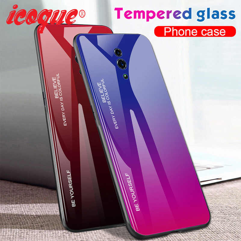 Luxury Glass Case for Oppo Reno Z 10x Zoom F11 Realme 3 Pro X Lite Cover Phone Case for Oppo A5 A9 2020 K1 K3 F3 A77 F5 F1 A11x