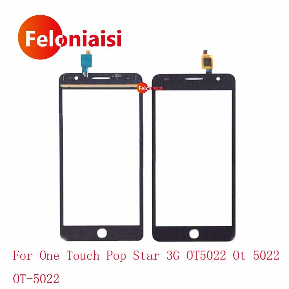 5.0 pour Alcatel One Touch Pop Star 3G OT5022 OT 5022 5022X 5022D Écran Tactile Digitizer Capteur Avant Lentille En Verre panneau + de Suivi