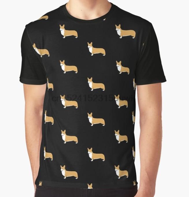 All Over Print T-shirt Mannen Funy Tshirt Pembroke Welsh Corgi Korte Mouw O-hals Grafische Tops Tee Vrouwen T-shirt Mooi En Kleurrijk
