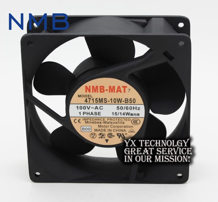 New and Original 4715MS-10W-B50 12038 12v 15w/14w 12cm aluminum frame industrial fan for NMB 120 * 120 * 38 mm new original delta 12cm tha1248be 12038 48v 2 6a cooling fan