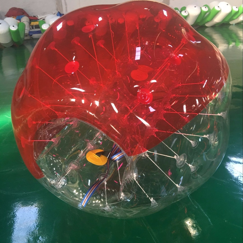 Inflatable Bumper Ball Diameter 1.5M Bubble Soccer Ball 0.8mm PVC Transparent Material Zorb Ball for Adults and Kids (2 Pcs )