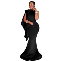 New 2017 Healthy Fabric strap hang Round Neck Splice backless Sleeveless black Slim Women Polyester Floor length Dresses