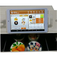 3D food Edible ink Coffee flatbed Printer with 8 inch Tablet PC