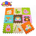 9Pieces Kid Game Carpet Blankets Foam EVA 6 Kinds of Color BABY Play Mat Puzzle Baby Play Mat Protection Mat free shipping