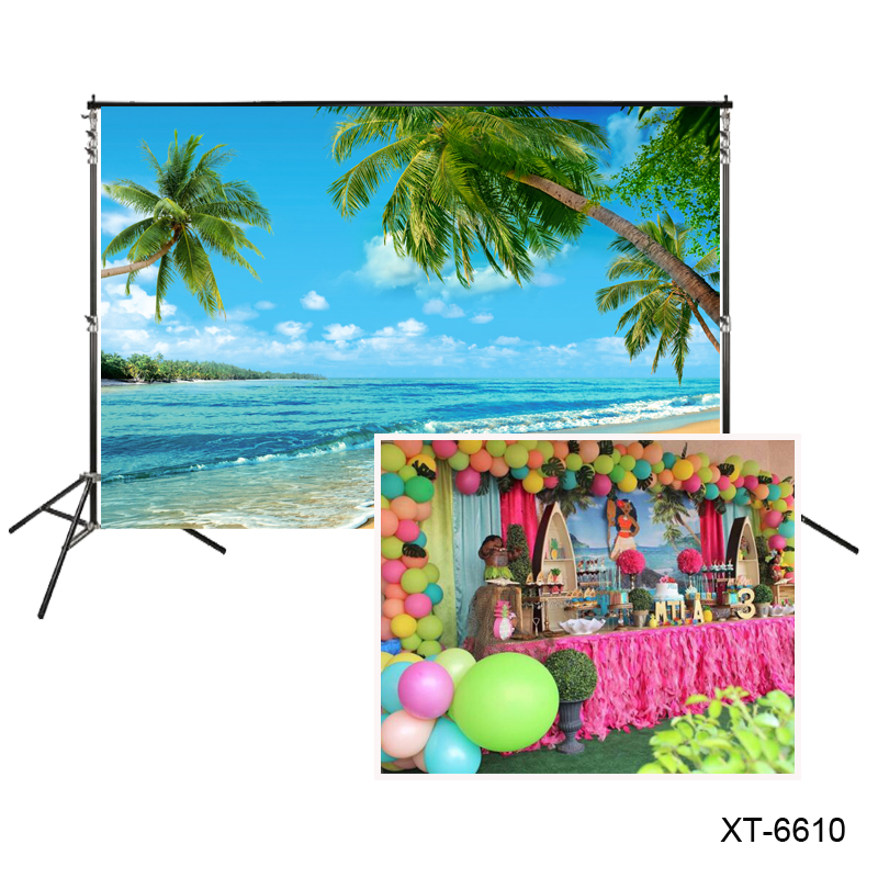 sea beach Photography backdrop Tropical seaside coconutpalm Island photocall background for Summer Party theme wedding banner