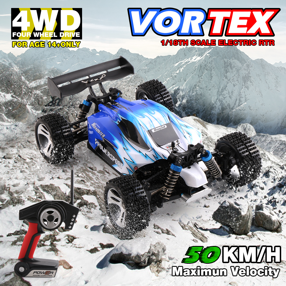High-Quality Wltoys A959 2.4G Radio RC Cars 50Km/H 1/18 4WD Off-Road Vehicle New Dirt bike wheels Buggy Remote Control Kid Toys wltoys a202 1 24 electric 4wd off road buggy