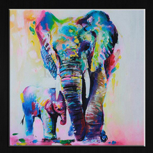 60cm Watercolor Elephant Inkjet Frameless Canvas Art Paintings Oil Colorful Modern Abstract Painting Artwork Painted Wall Decor