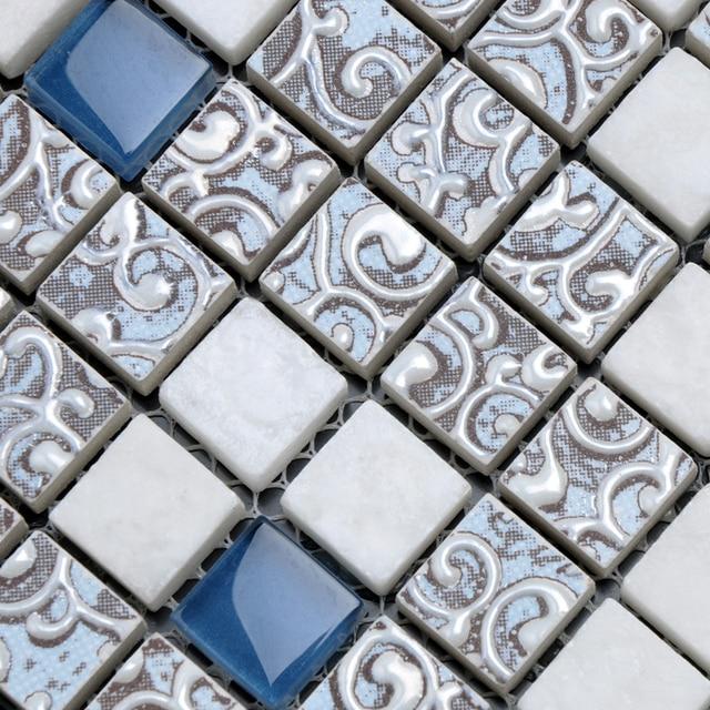 Heißer glasmosaik kristall puzzle hintergrund wand bad fliesen ...