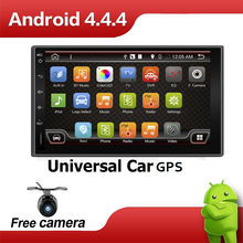 Quad Core 7 INCH 2 Din Android 4.4 Car Audio Non DVD Stereo Radio GPS TV 3G WiFi GPS Navigation Head Unit For Universal VW Car