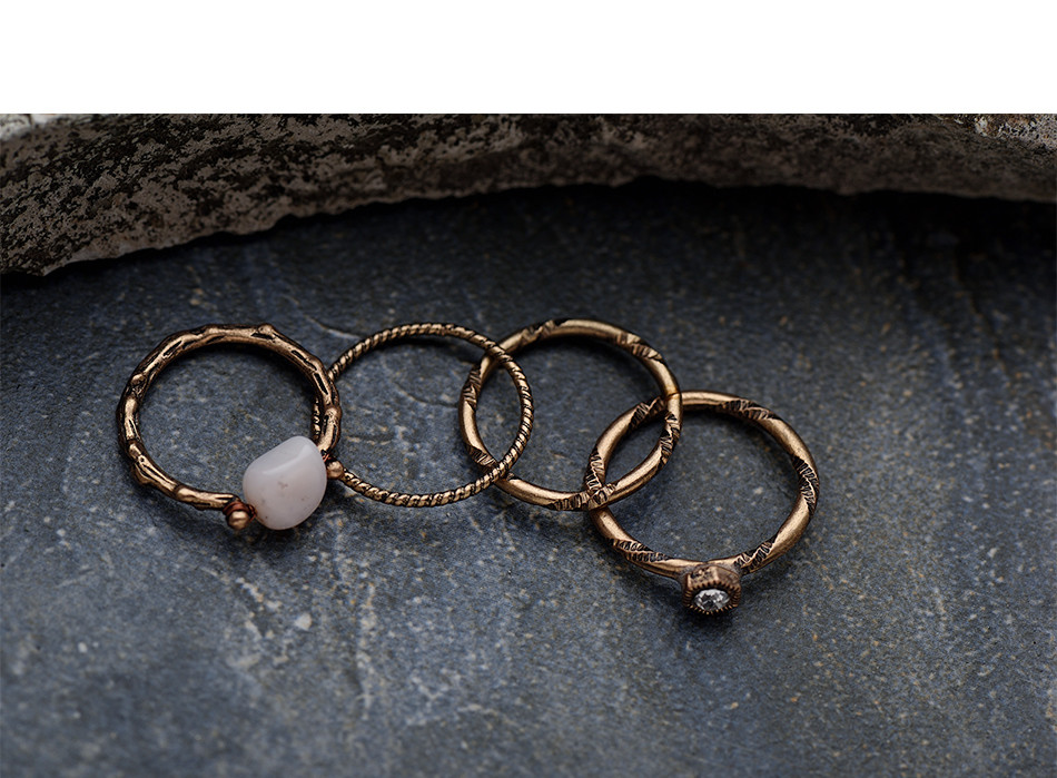 Boho Beach Vintage Ring Set