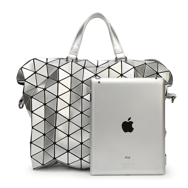 ФОТО 2017 Summer Fashion Bags Briefcase Women Handbags Bao Bao Geometric Quilted Folded Plaid Shoulder Big Bag Shopper & Crossbody