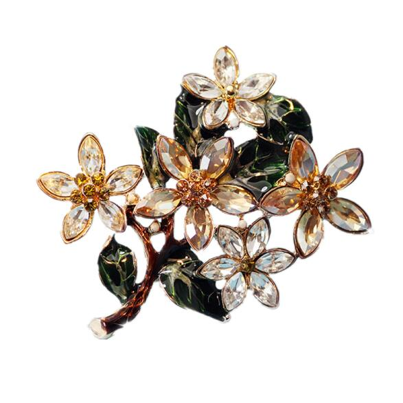Yuluch 2018 New Delicate Novelty Brooch For Girl Valentines Day Gift Green Pearl Inlay Women Boutonniere Fashion Jewelry Jewelry & Accessories Brooches