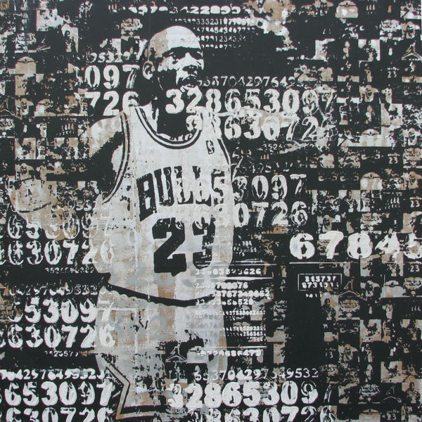 100 hand painted canvas oil painting abstract basketball star michael jordan original modern oil painting